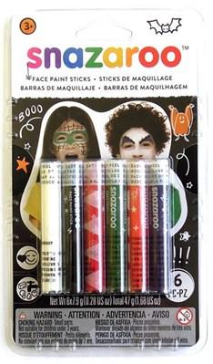 Snazaroo Halloween Face Painting Sticks 6pk