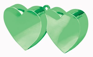 Green 6oz Double Heart Balloon Weight