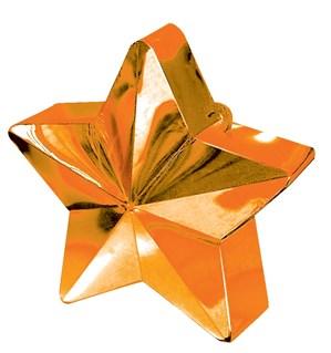 Orange 6oz Star Balloon Weight