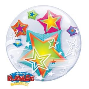"24"" Double Bubble Star Print Balloon"