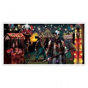Halloween Creepy Carnival Wall Banner
