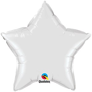 "White 20"" Star Foil Balloon"