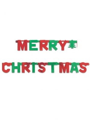 Merry Christmas Jointed Letter Banner