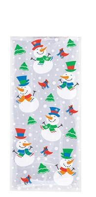 Christmas Snowman Sweet Cello Bags 20pk