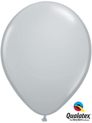 "11"" Grey Latex Balloons 100pk"