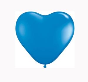 "6"" Dark Blue Latex Heart Balloons 100pk"