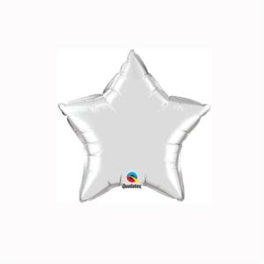 "Silver 4"" Star Foil Balloon"