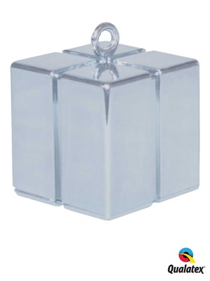 Silver 3.9oz Gift Box Balloon Weight