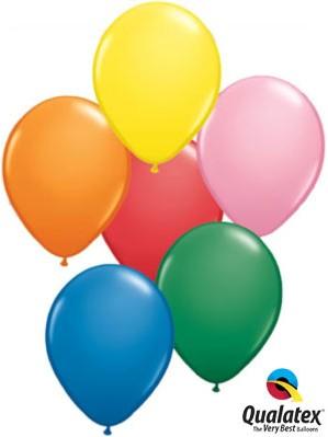 """11"""" Asst'd Colour Latex Balloons 100pk"""