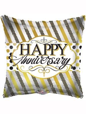 """Happy Anniversary Square 18"""" Foil Balloon"""