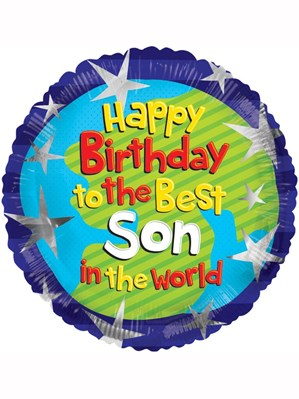 "Happy Birthday Best Son in the World 18"" Foil Balloon"