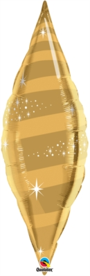 "Gold 38"" Foil Taper Swirl"