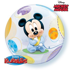 Baby Mickey Bubble Balloon 22""