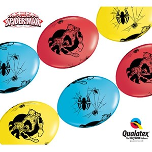 "Spiderman Assorted Quick Link 12"" Latex Balloons 50pk"