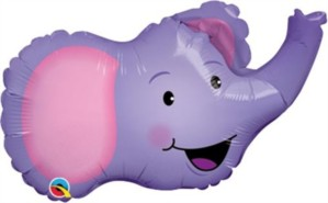 "Elated Elephant Foil Balloon 14"""