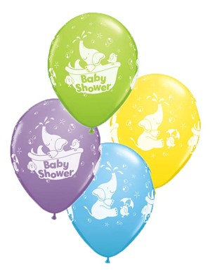 "11"" Assorted Baby Shower Latex Balloons - 25pk"