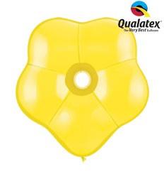 "6"" Yellow GEO Blossom Latex Balloons 50pk"