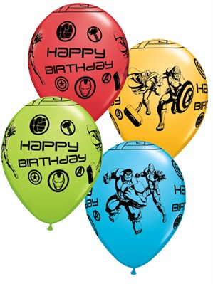 "Avengers Happy Birthday 11"" Latex Balloons 25pk"
