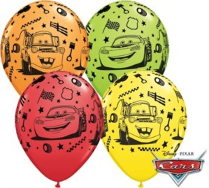 "Cars Assorted 11"" Latex Balloons 25pk"