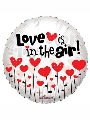 """Love is in the Air Clear View 18"""" Valentine's Day Balloon"""