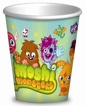 8 Moshi Monsters Paper Cups