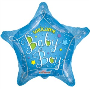 "18"" Star Shaped Baby Boy Foil Balloon"