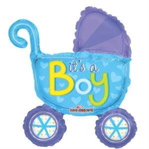 """It's a Boy Stroller Air Fill 14"""" Foil Balloon"""