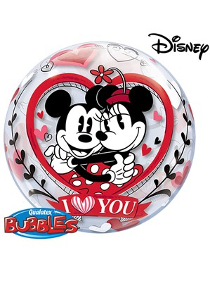 "Mickey & Minnie Valentine's Day 22"" Bubble Balloon"