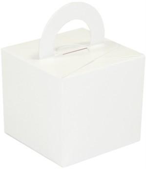 Balloon Weight/Gift Box White - 10pk