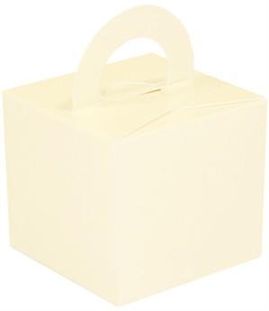 Balloon Weight/Gift Box Ivory - 10pk