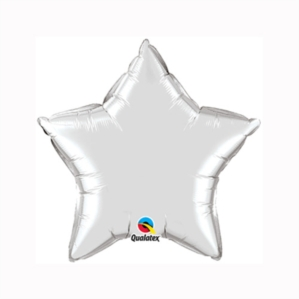 "Silver 9"" Star Foil Balloon"
