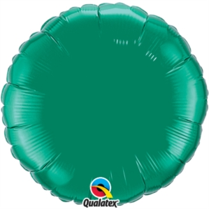 "Emerald Green 18"" Round Foil Balloon Pkgd"