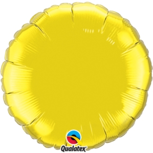 "Citrine Yellow 18"" Round Foil Balloon"