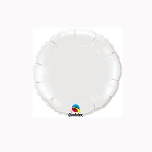 """White 4"""" Round Foil Balloon"""