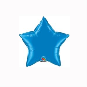 """Sapphire Blue 4"""" Star Foil Balloon"""