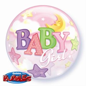 """Baby Girl Bubble Balloon 22"""""""