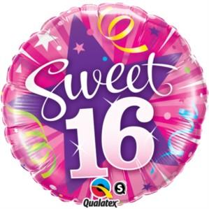 "Sweet 16 Shining Star 18"" Foil Balloon"