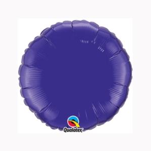 "Quartz Purple 9"" Round Foil Balloon"
