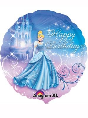 "Cinderella 'Happy Birthday' 17"" Foil Balloon"