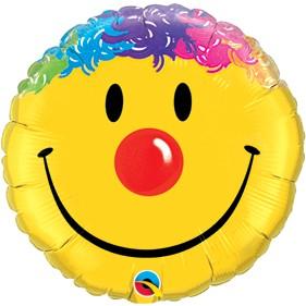 """Clown Smiley Face 18"""" Foil Balloon"""