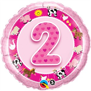 "18"" Pink 2nd Birthday Foil Balloon"