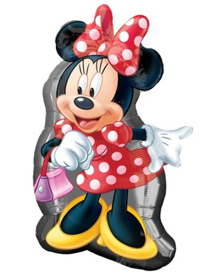 """Minnie Mouse Red 32"""" Supershape Foil Balloon"""
