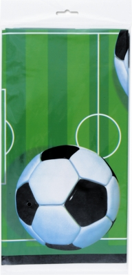 "Football Rectangular Plastic Tablecover 54""x 108"""