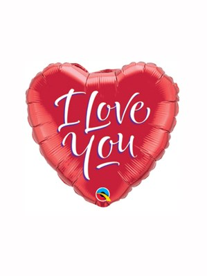 """Valentine Red I Love You Foil Balloon 9"""""""