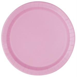 """Lovely Pink 7"""" Round Paper Plates 20pk"""