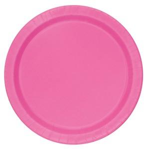 "Hot Pink 7"" Round Paper Plates 20pk"