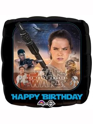 "Star Wars The Force Awakens Happy Birthday 18"" Foil Balloon"