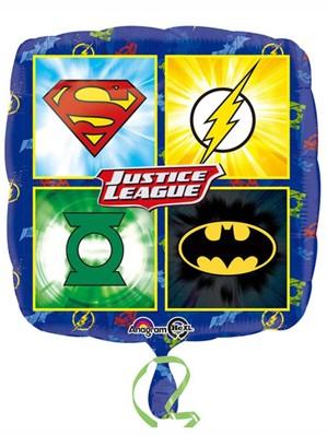 """Justice League 18"""" Square Foil Balloon"""
