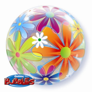 Fanciful Flowers Bubble Balloon 22""