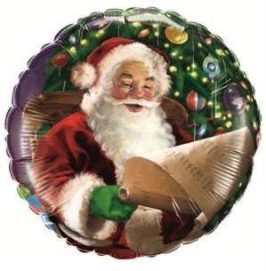 """Santa's Christmas List 2-Sided 18"""" Foil Balloon"""